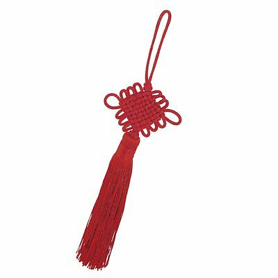 "9.1"" Length Red Tassels Chinese Knot Hanging Decoration for Auto Car LW"