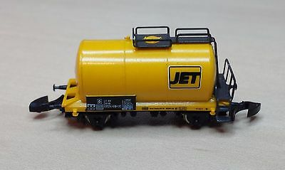 "Marklin 8612,9 ""JET"" 2 Axle Tank Wagon Yellow 1:220 Z Scale NIB"