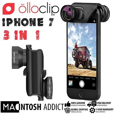 Olloclip Core 3-in-1 Lens Kit For iPhone 7 /PLUS | Wide-Angle Fisheye Macro 15x
