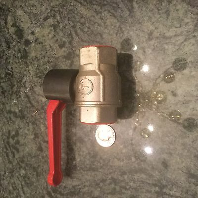 1 inch NPT ball valve made in italy red handle twist industrial plumbing new