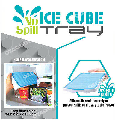 2 x FOOD GRADE SILICONE Good Grips No Spill Ice Cube Tray Odorless Cubes