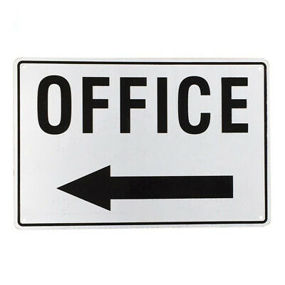 OFFICE SIGN  WITH ARROW POINTING LEFT  200x 300mm Aluminum  Metal SIGN 16003047