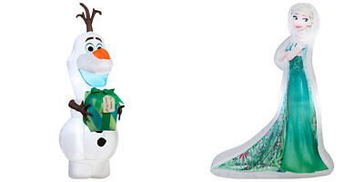 Gemmy Airblown Christmas Inflatable Decor Disney Frozen Elsa and Olaf , NEW