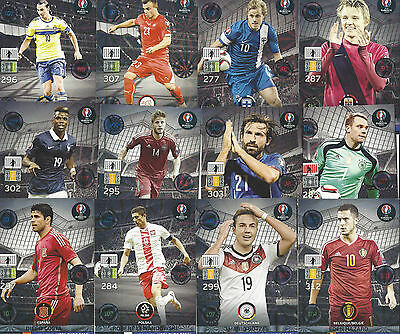 Limited Edition Panini  Adrenalyn XL Trading Cards Road to Uefa Euro 2016