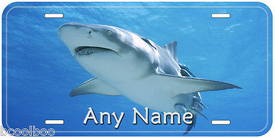 Lemon Shark Aluminum Any Name Personalized Novelty Auto Tag License Plate
