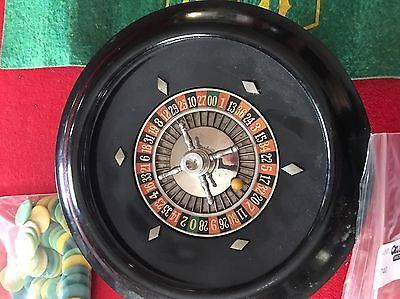 Vintage Pattberg Novelty Co. Roulette Wheel COMPLETE WITH INSTRUCTIONS!