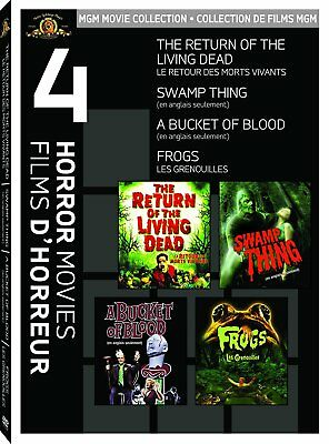 The Return Of The Living Dead + Swamp Thing + Frogs + A Bucket Of Blood *New Dvd