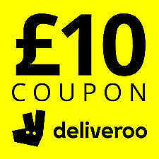 Free £10 Off Deliveroo Voucher Code Coupon Promo Discount Gift Card