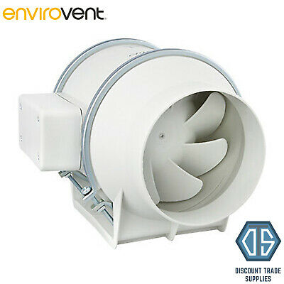 "Envirovent SILENT MV 160S 4"" Inline 230v Extractor Fan 100mm SILMV160/100S"