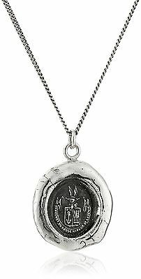 Pyrrha Unisex Be Here Now Sterling Silver Talisman Pendant Necklace