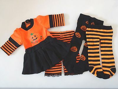 """NEW-Doll Clothes: Pumpkin/Halloween Set fits 18"""" Doll such as AG Doll-Lot 262"""