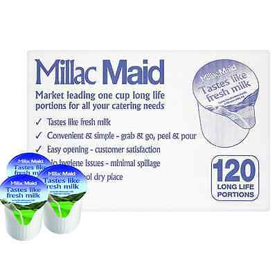 240 x Millac Maid Luxury Coffee Creamer Long Life Portions, Short Dated