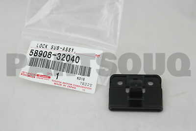 5890832040 Genuine Toyota LOCK SUB-ASSY, CONSOLE COMPARTMENT DOOR 58908-32040
