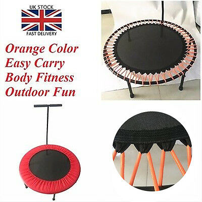 40 Inch Jumper Mini Fitness Body Trampoline With Handle Bar Home Outdoor UK