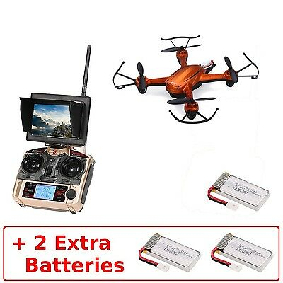 JJRC H32GH (+2 Extra Batteries) Mini 5.8Ghz High Range FPV with LCD Monitor R...