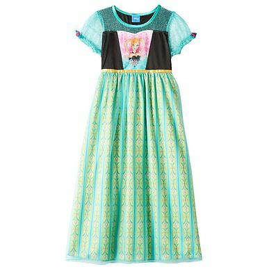 NEW Girls Disney Frozen Anna Dress Up Nightgown Costume Size 6 FREE SHIPPING