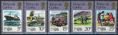 Tristan Da Cunha 1980, Ships, London 80 Intl. Stamp Exhib set MNH