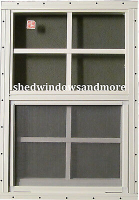 Shed Window 14 x 21 wht Flush Playhouse / Chicken Coop / Storage Shed /Barns
