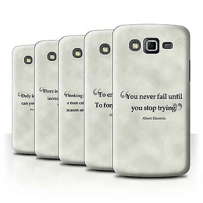 STUFF4 Phone Case/Back Cover for Samsung Galaxy Grand 2/G7102 /Famous Quotes