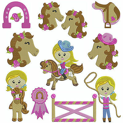 PONY CLUB * Machine Embroidery Patterns * 10 Designs, 2 Sizes