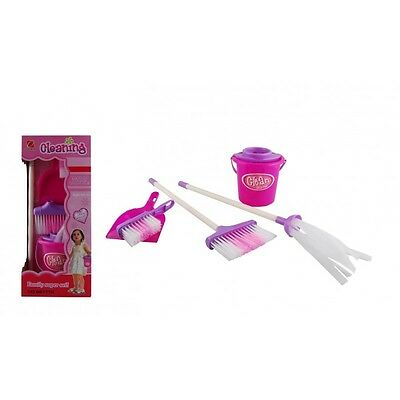 Brand New Little Helper Cleaning Set Pretend Play Toy Broom Mop