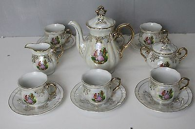 Royal Japan porcelain french style Romeo and Juliet Tea Pot &Coffee full set