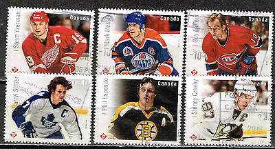 Canad Sport Famous Hockey Players stamps 2015