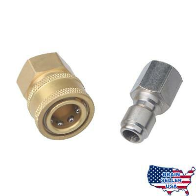 DUSICHIN DUS-238 3/8 Inch Quick Connect Fittings for High Pressure Washer Hose