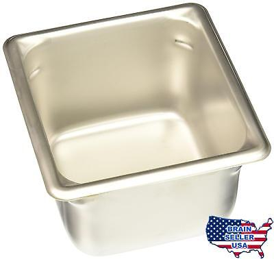 """Vollrath (30642) 4"""" Deep Super Pan V Stainless Steel Sixth-Size Steam Table Pan"""