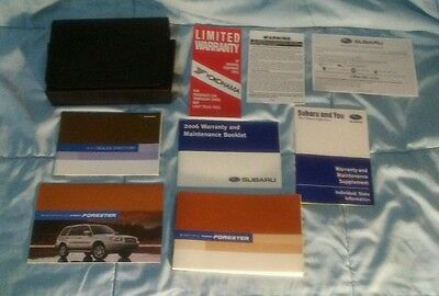 2006 Subaru Forester owners manual set with cover case Sharp