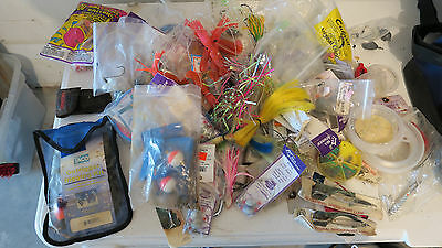 Lot of Hooks, Rigs, Lures, etc. and Shimano Tackle Bag
