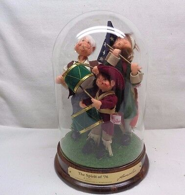 """Extremely Rare 1990 Annalee #1435 """"The Spirit of 76"""" Dolls w/show case NOS"""