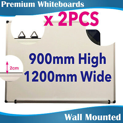 2PCS Quality Office Magnetic Whiteboard Whiteboards White Board 900x1200MM