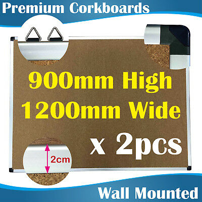 2PCS  Premium Corkboards/Notice Board/corkboard/pin board/pinboards  90x120 CM