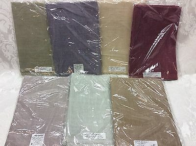 "Fiesta Needleart Needlepoint Fabric 28 Count Lot of 7 Linen New 18"" x 27"""