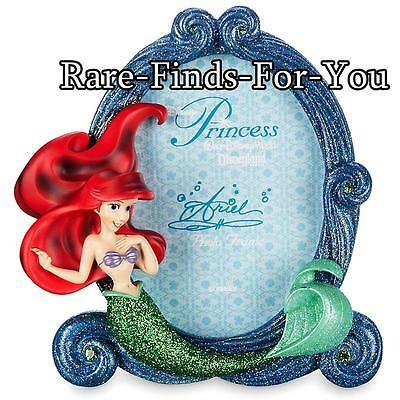 Disney Parks The Little Mermaid Princess Ariel Glitter Photo Picture Frame (NEW)
