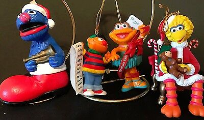 Sesame Street Christmas Tree ornaments Big Bird, Grover,  Ernie Muppet, & Zoe