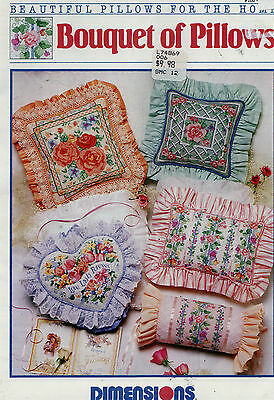 Cross Stitch Pattern Bouquet Pillows Dimensions Sweet Peas Roses Morning Glories
