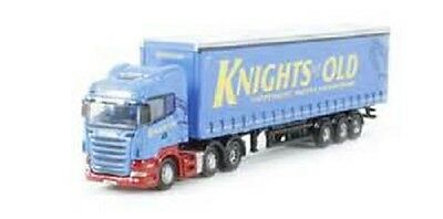 N Scale tractor trailer, truck, blue vehicle