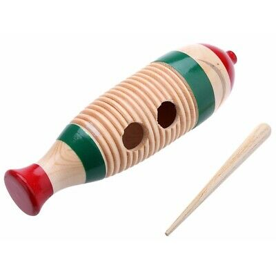 New GP Percussion Large Wood Guiro with Scratcher + Free Shipping