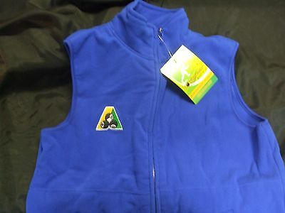 Lawn Bowls Polar Fleece Fleecy Vest ,  Royal Blue, Size- XSmall