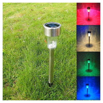 Solar LED Path Light Outdoor Garden Lawn Landscape Stainless Steel Spot Lamp LW