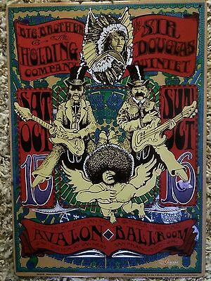 Big Brother & The Holding Company, Sir Douglas Quintet Avalon Ballroom Sign