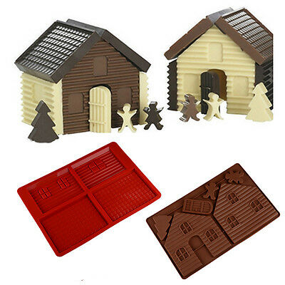 Christmas Gingerbread House Silicone Kitchen Cake Mould Pastry Baking Mold Tool