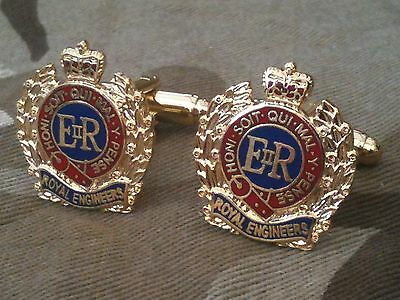 Royal Corps of Engineers Cufflinks Military Cuff Links