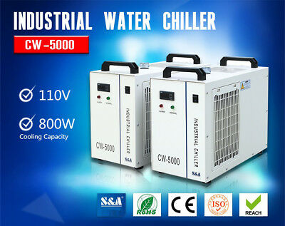 USA 110V CW-5000DG Industrial Water Chiller for 80W or 100W CO2 Glass Laser Tube