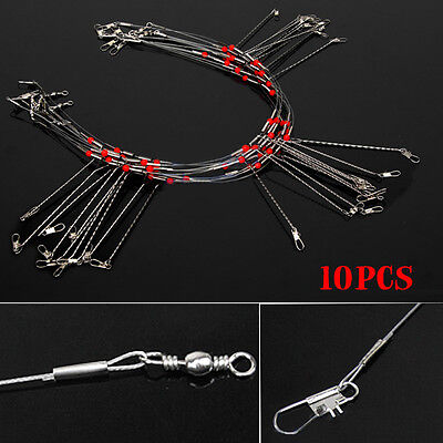10pcs pack 3 Arms Wire Fishing Leader Rigs Fishing Tools Fishing Tackle