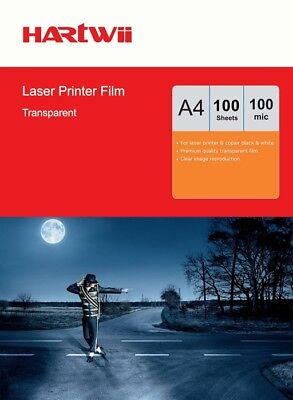100 Sheets Overhead Projector OHP Film Clear A4 297x 210mm For Laser Printer AU