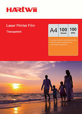 Hartwii 60 Sheets Overhead Projector OHP Film Acetate Clear A4 For Laser Printer