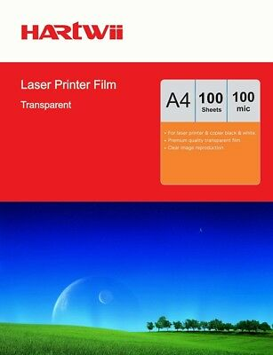 100 Sheets Transparency OHP Film Acetate Clear A4 For Laser & Copier Hartwii AU